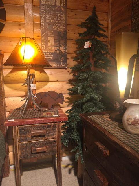 2 Drawer Barnwood Night Stand
