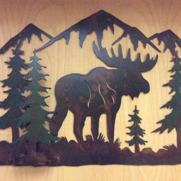2u0027x17 Moose Scene