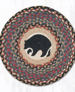 "Black Bear 15"" Round Placemat"