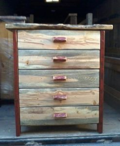 5 Drawer Beetle Kill or Blue Pine Chest