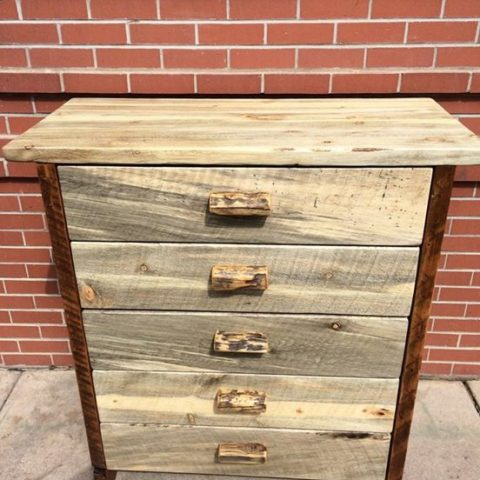 5 Drawer Beetle Kill or Blue Pine Chest2