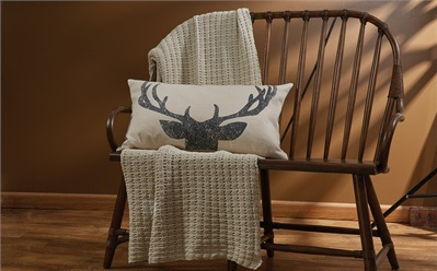 502-53-Deer Antler Pillow