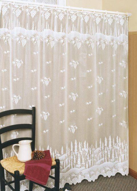 6145-OC_Pinecone Shower Curtain