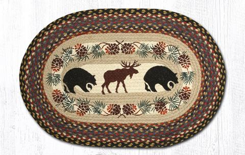 65-043BB_large_Bear_Moose Oval Patch Rug