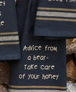 72-056_Advice from a bear dishtowel