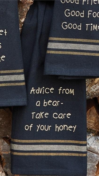 72-056_Advice from a bear dishtowel
