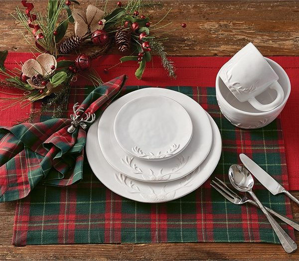 8210-650_DeerSilhouette Dinnerware & Deer Antler Silhouette Dinnerware Set - Bearu0027s Den Colorado