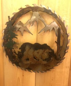 3-D Bear Saw Blade Metal Art