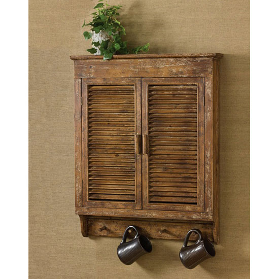 Wooden Den Cabinets ~ Distressed wood shutter cabinet bear s den colorado