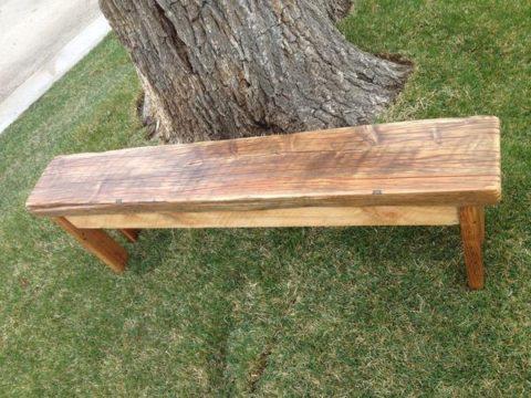 Basic Barnwood Bench
