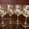 Wine Wildlife Themed Glass