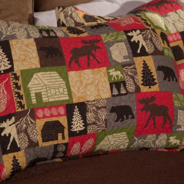 cabin in the woods bedding set queen bear 39 s den colorado. Black Bedroom Furniture Sets. Home Design Ideas