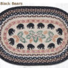 Black Bears 20 x 30 Oval Braided Jute Rug