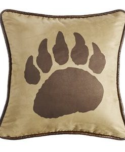 PL4107-Rushmore Bear Claw Faux Suede Pillow