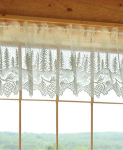Pinecone Lace Valance