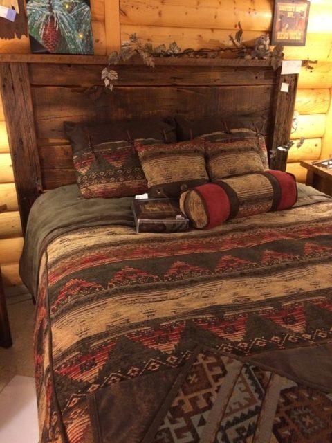 Queen Barnwood Natural Bed