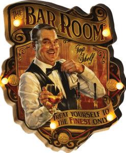 The Bar Room LED Metal Bar Sign