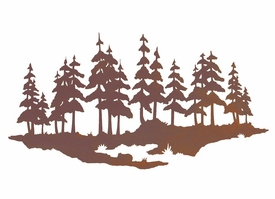 WA-3051 – pine-tree-forest-metal-wall-art