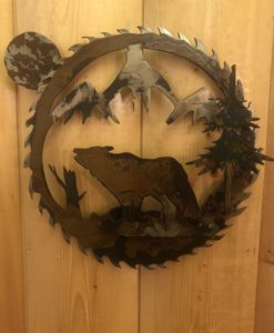 3-D Wolf Saw Blade Metal Art