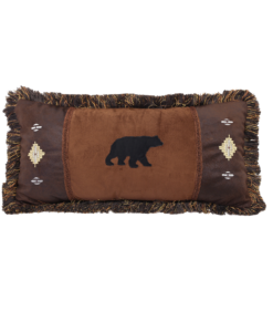 Bear and Diamonds Oblong Pillow