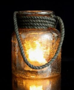 "Mercury Rope Lantern 6""W X 8""H Including The Flame Wave"