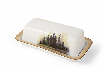 Misty Forest Dinnerware Butter Dish 8209208915 Bear S Den Colorado